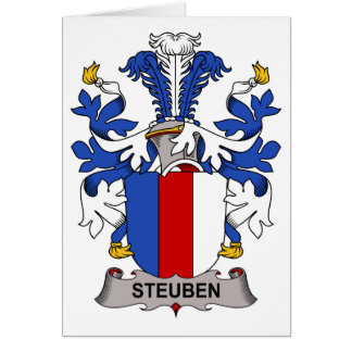 Escudo de la familia de Steuben Felicitación