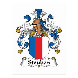 Escudo de la familia de Steuben Postal