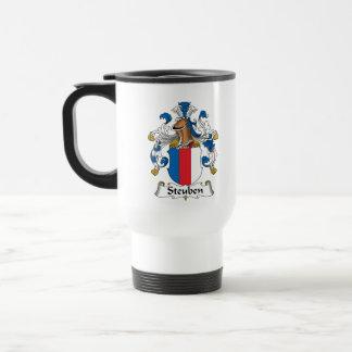 Escudo de la familia de Steuben Tazas De Café