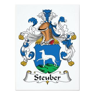 Escudo de la familia de Steuber Invitación 16,5 X 22,2 Cm