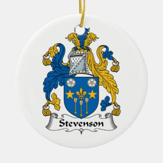 Escudo de la familia de Stevenson Adorno Navideño Redondo De Cerámica