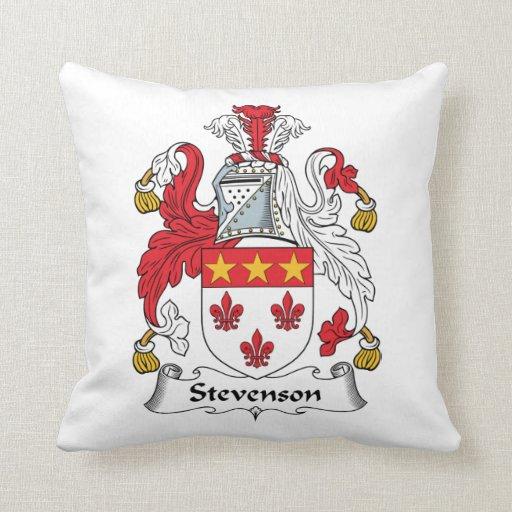Escudo de la familia de Stevenson Almohada
