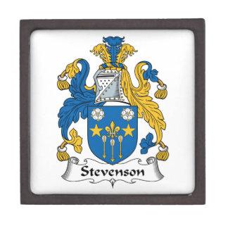 Escudo de la familia de Stevenson Cajas De Recuerdo De Calidad