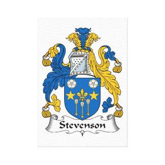Escudo de la familia de Stevenson Impresiones En Lona Estiradas