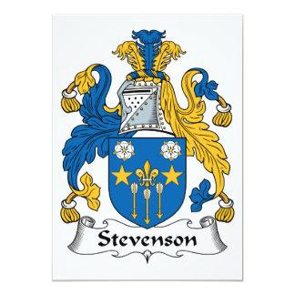 """Escudo de la familia de Stevenson Invitación 5"""" X 7"""""""