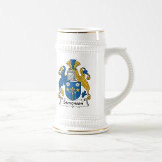 Escudo de la familia de Stevenson Jarra De Cerveza