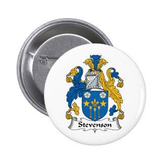 Escudo de la familia de Stevenson Pin Redondo 5 Cm