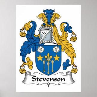 Escudo de la familia de Stevenson Póster