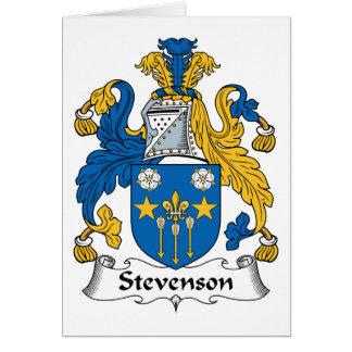 Escudo de la familia de Stevenson Tarjeta De Felicitación