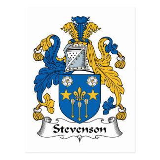 Escudo de la familia de Stevenson Tarjeta Postal