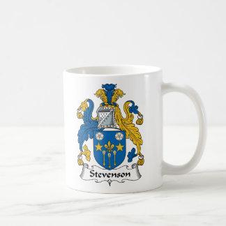 Escudo de la familia de Stevenson Taza Básica Blanca