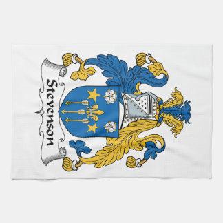 Escudo de la familia de Stevenson Toallas De Cocina