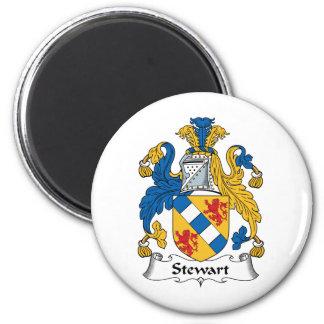 Escudo de la familia de Stewart Imán Redondo 5 Cm