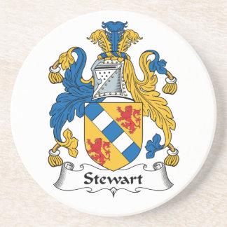 Escudo de la familia de Stewart Posavaso Para Bebida