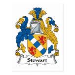 Escudo de la familia de Stewart Postal