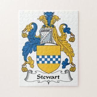 Escudo de la familia de Stewart Rompecabeza Con Fotos