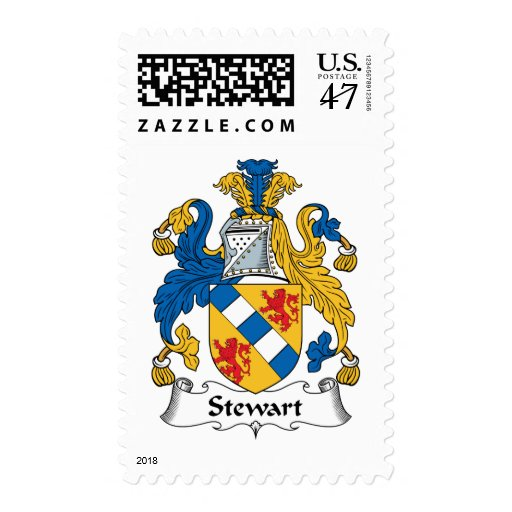 Escudo de la familia de Stewart Sellos Postales