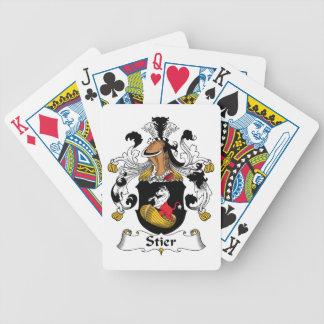 Escudo de la familia de Stier Baraja Cartas De Poker
