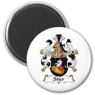 Escudo de la familia de Stier Imán Redondo 5 Cm