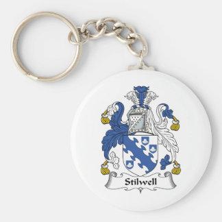 Escudo de la familia de Stilwell Llavero Redondo Tipo Pin