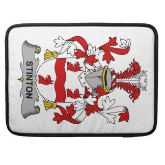 Escudo de la familia de Stinton Funda Para Macbooks