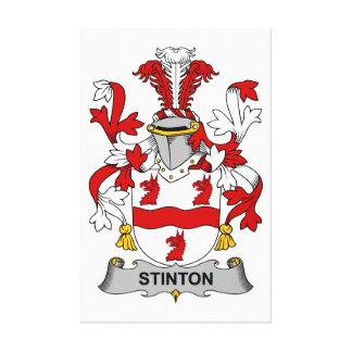 Escudo de la familia de Stinton Lona Envuelta Para Galerías