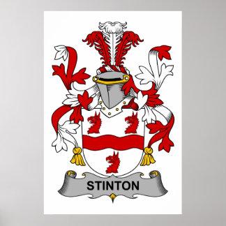 Escudo de la familia de Stinton Poster