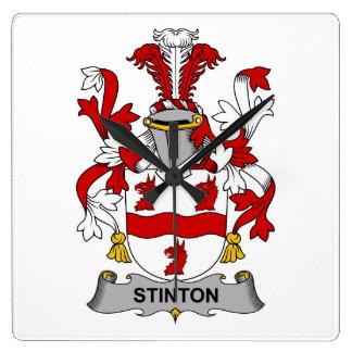 Escudo de la familia de Stinton Reloj