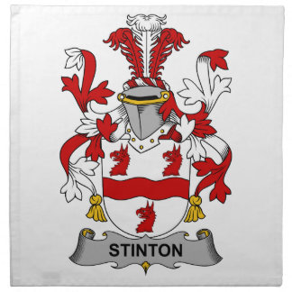 Escudo de la familia de Stinton Servilletas