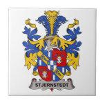 Escudo de la familia de Stjernstedt Teja Ceramica