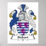 Escudo de la familia de Stobart Poster