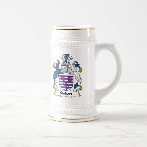 Escudo de la familia de Stobart Taza De Café