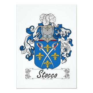 Escudo de la familia de Stocco Invitacion Personal