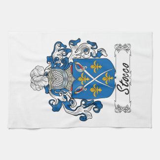 Escudo de la familia de Stocco Toallas De Cocina