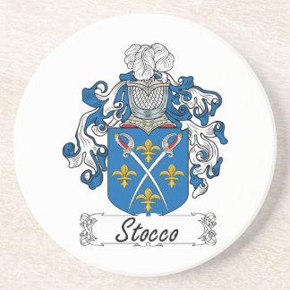 Escudo de la familia de Stocco Posavaso Para Bebida