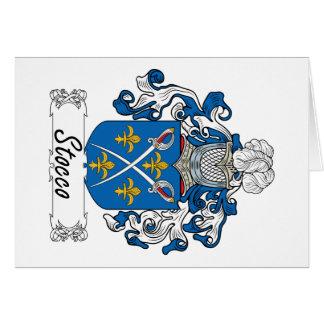 Escudo de la familia de Stocco Tarjetas