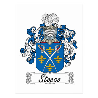 Escudo de la familia de Stocco Tarjeta Postal