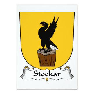 """Escudo de la familia de Stockar Invitación 5"""" X 7"""""""
