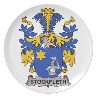 Escudo de la familia de Stockfleth Platos Para Fiestas