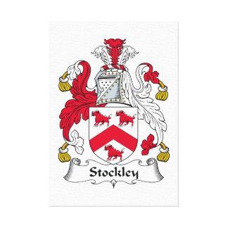 Escudo de la familia de Stockley Lona Envuelta Para Galerias