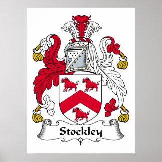 Escudo de la familia de Stockley Posters