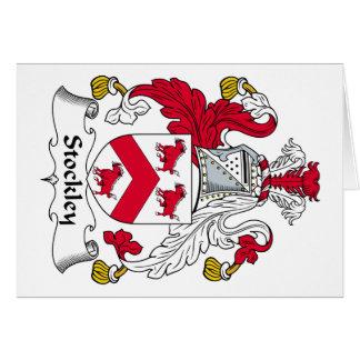Escudo de la familia de Stockley Tarjeta De Felicitación