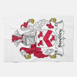Escudo de la familia de Stockley Toalla De Mano