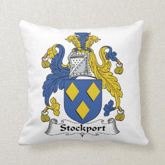 Escudo de la familia de Stockport Almohadas