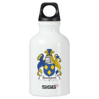Escudo de la familia de Stockport Botella De Agua