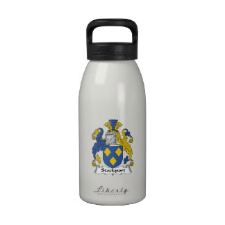 Escudo de la familia de Stockport Botella De Beber