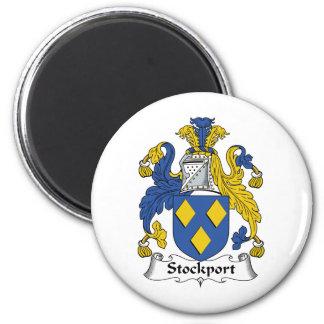 Escudo de la familia de Stockport Imán Redondo 5 Cm