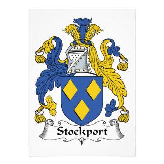 Escudo de la familia de Stockport Invitacion Personal