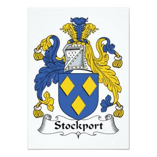 """Escudo de la familia de Stockport Invitación 5"""" X 7"""""""