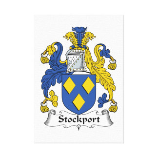 Escudo de la familia de Stockport Impresión En Lienzo Estirada